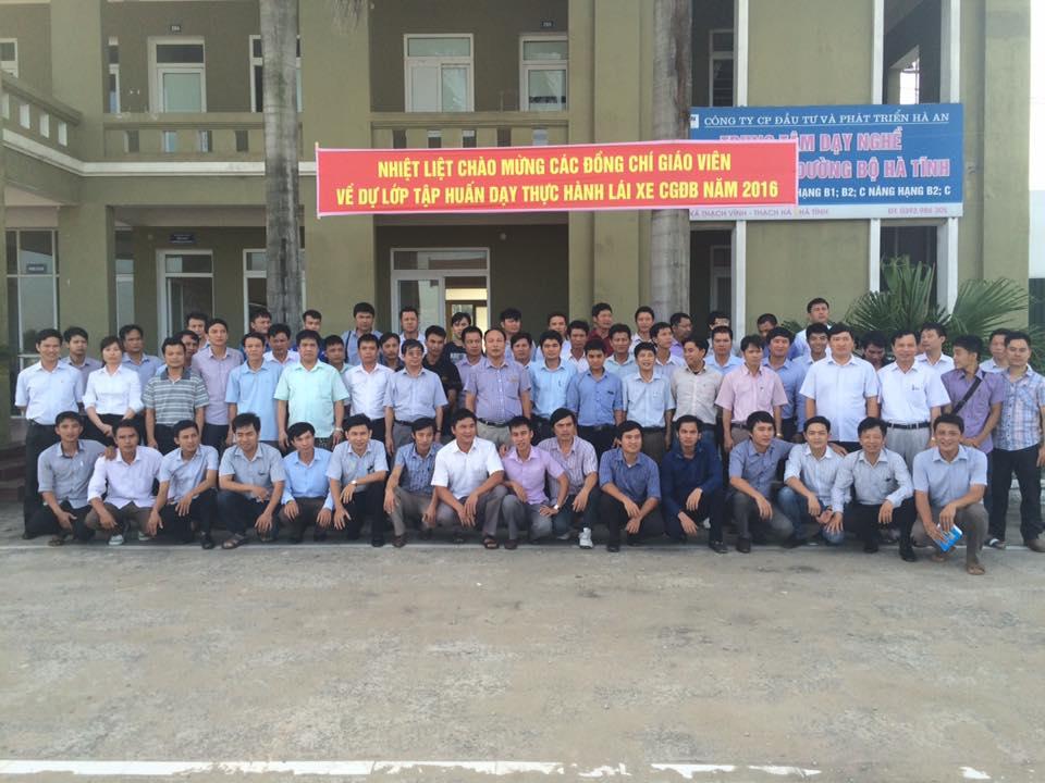 Trung tâm dạy nghề lái xe cơ giới đường bộ Hà Tĩnh