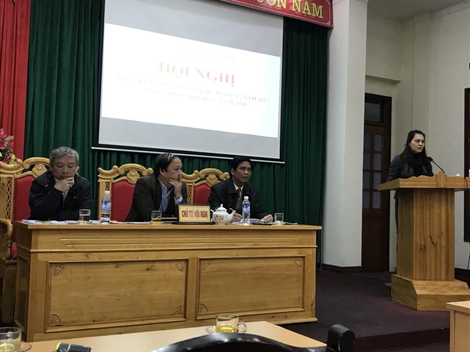 Hội nghị tổng kết công tác đảng năm 2017