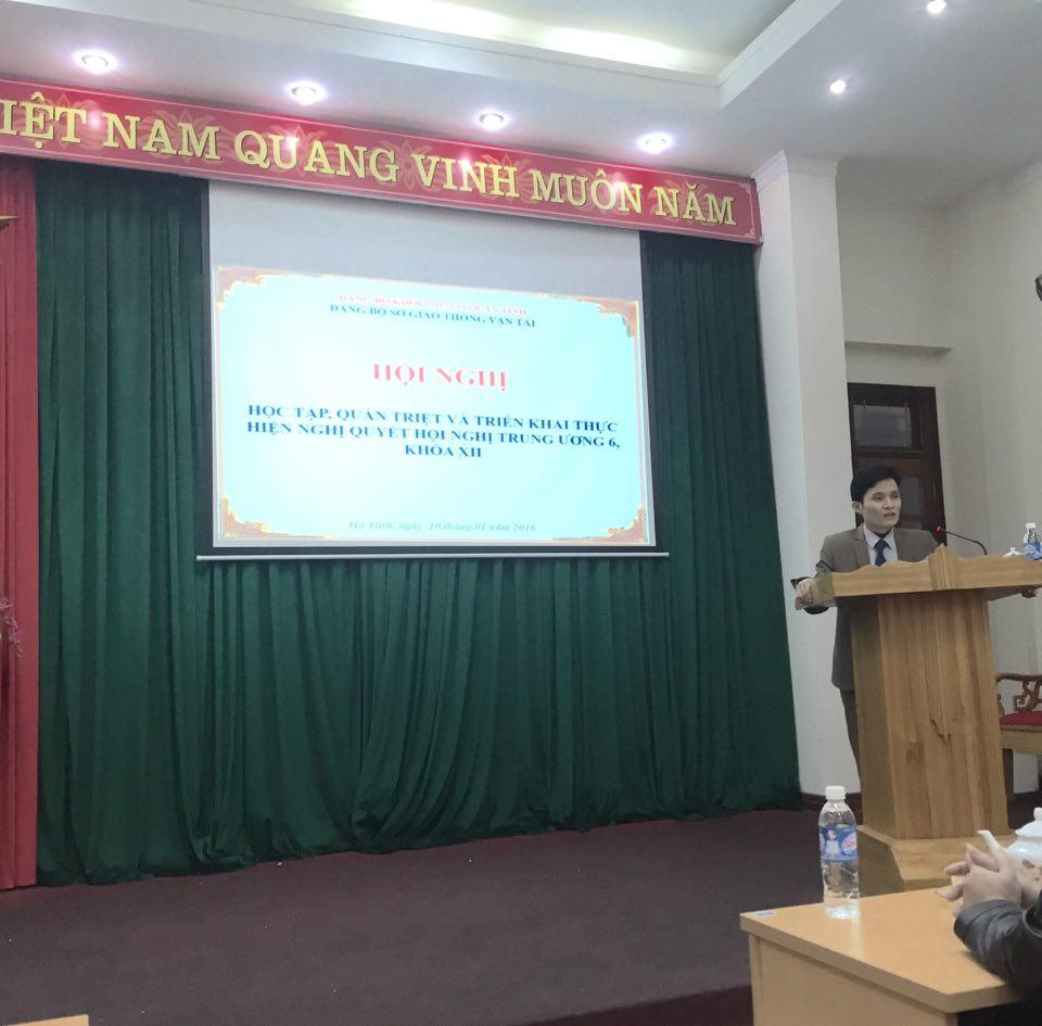 Đảng bộ Sở GTVT tổ chức quán triệt NQ TW6