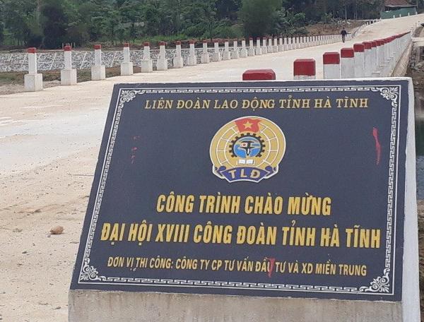 Hoàn thành xây dựng cầu Trung Lưu qua sông Ngàn Phố