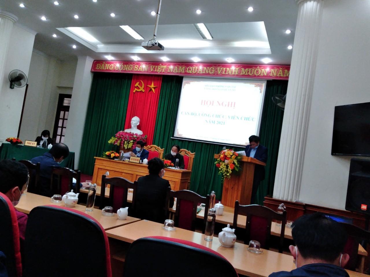 Sở GTVT tổ chức Hội nghị cán bộ công chức năm 2021