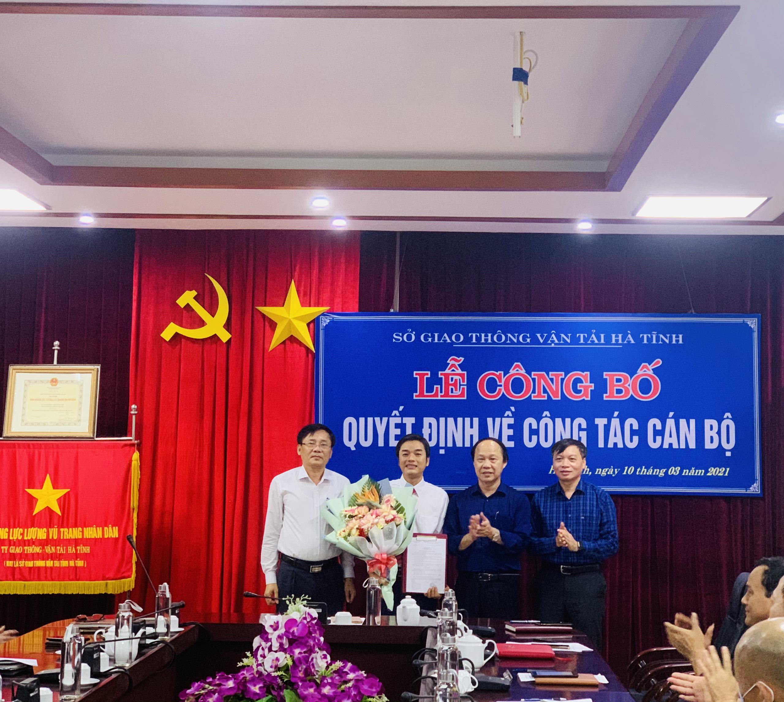 Sở GTVT Hà Tĩnh công bố quyết định bổ nhiệm Phó Giám đốc Sở