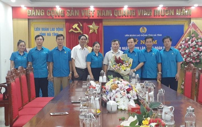 Chúc mừng LĐLĐ tỉnh Hà Tĩnh nhân kỷ niệm 91 năm ngày...